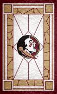 """Florida State Seminoles 11"""" x 19"""" Stained Glass Sign"""