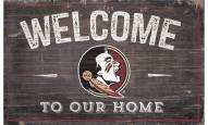 """Florida State Seminoles 11"""" x 19"""" Welcome to Our Home Sign"""
