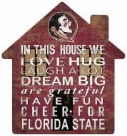 "Florida State Seminoles 12"" House Sign"