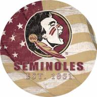 "Florida State Seminoles 12"" Team Color Flag Circle Sign"