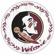"Florida State Seminoles 12"" Welcome Circle Sign"