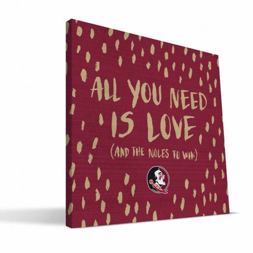 "Florida State Seminoles 12"" x 12"" All You Need Canvas Print"