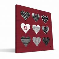 "Florida State Seminoles 12"" x 12"" Hearts Canvas Print"