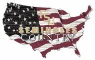 "Florida State Seminoles 15"" USA Flag Cutout Sign"