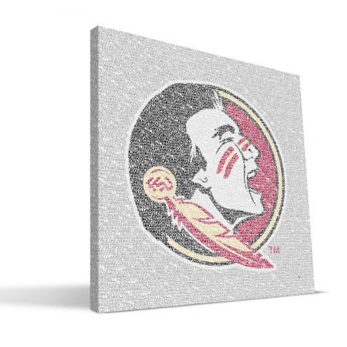 "Florida State Seminoles 16"" x 16"" Typo Canvas Print"