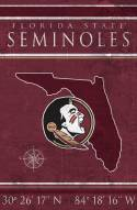 """Florida State Seminoles 17"""" x 26"""" Coordinates Sign"""