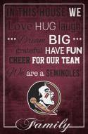 """Florida State Seminoles 17"""" x 26"""" In This House Sign"""