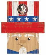 """Florida State Seminoles 19"""" x 16"""" Patriotic Head"""