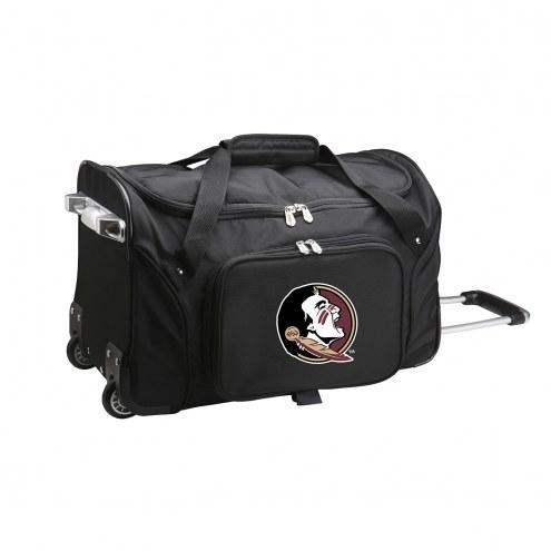 """Florida State Seminoles 22"""" Rolling Duffle Bag"""