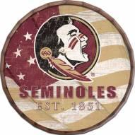 """Florida State Seminoles 24"""" Flag Barrel Top"""