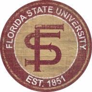 "Florida State Seminoles 24"" Heritage Logo Round Sign"