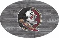 """Florida State Seminoles 46"""" Distressed Wood Oval Sign"""