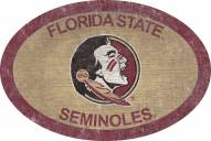 """Florida State Seminoles 46"""" Team Color Oval Sign"""
