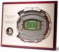 Florida State Seminoles 5-Layer StadiumViews 3D Wall Art