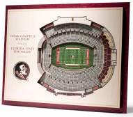 Florida State Seminoles 5-Layer StadiumViews 3D Wall Art