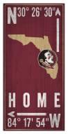 """Florida State Seminoles 6"""" x 12"""" Coordinates Sign"""