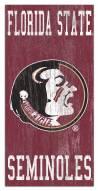 "Florida State Seminoles 6"" x 12"" Heritage Logo Sign"