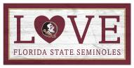 "Florida State Seminoles 6"""" x 12"""" Love Sign"