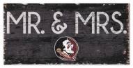 "Florida State Seminoles 6"" x 12"" Mr. & Mrs. Sign"