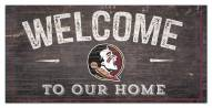 """Florida State Seminoles 6"""" x 12"""" Welcome Sign"""