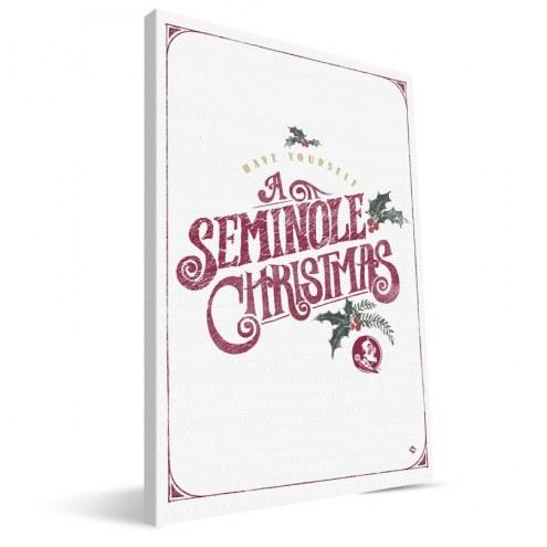 "Florida State Seminoles 8"" x 12"" Merry Little Christmas Canvas Print"