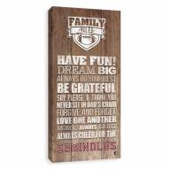 Florida State Seminoles Family Rules Icon Wood Printed Canvas