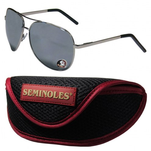 Florida State Seminoles Aviator Sunglasses and Sports Case