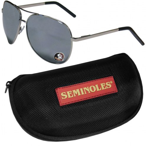 Florida State Seminoles Aviator Sunglasses and Zippered Carrying Case