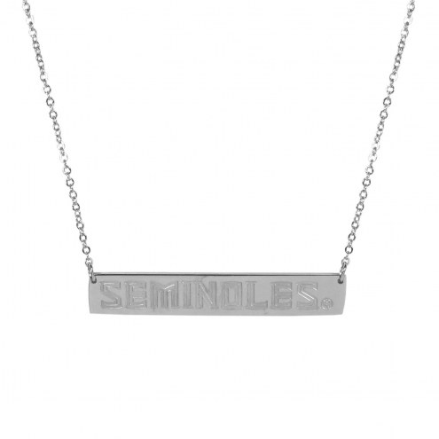 Florida State Seminoles Bar Necklace