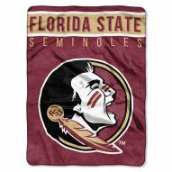 Florida State Seminoles Basic Plush Raschel Blanket