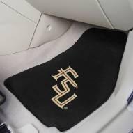 Florida State Seminoles Black 2-Piece Carpet Car Mats