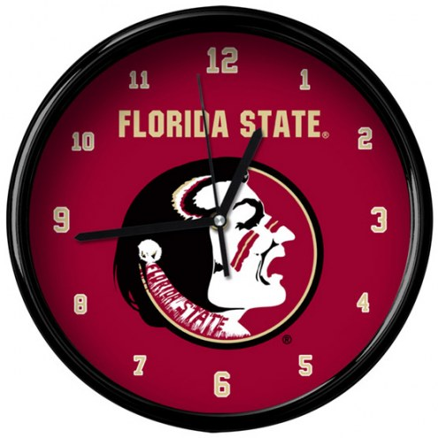Florida State Seminoles Black Rim Clock