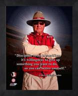 Florida State Seminoles Bobby Bowden Framed Pro Quote