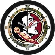 Florida State Seminoles Camo Wall Clock