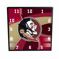 Florida State Seminoles Carbon Fiber Square Clock