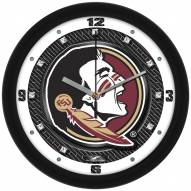 Florida State Seminoles Carbon Fiber Wall Clock