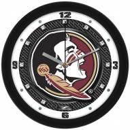 Florida State Seminoles Carbon Fiber Wall Clock