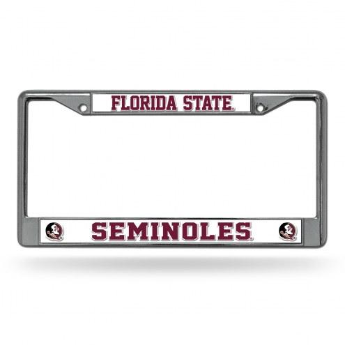 Florida State Seminoles Chrome License Plate Frame