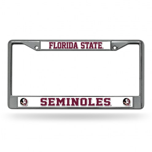 Florida State Seminoles Chrome License Plate Frame