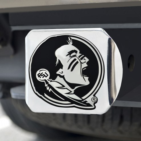 Florida State Seminoles Chrome Metal Hitch Cover