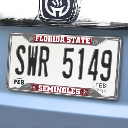 Florida State Seminoles Chrome Metal License Plate Frame