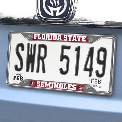 Florida State Seminoles Chrome Metal License Plate Frame