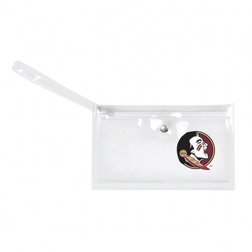 Florida State Seminoles Clear Ticket Wristlet
