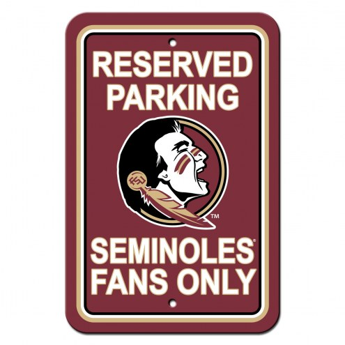 Florida State Seminoles College Parking Sign
