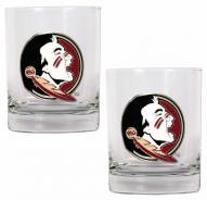 Florida State Seminoles College 2-Piece 14 Oz. Rocks Glass Set