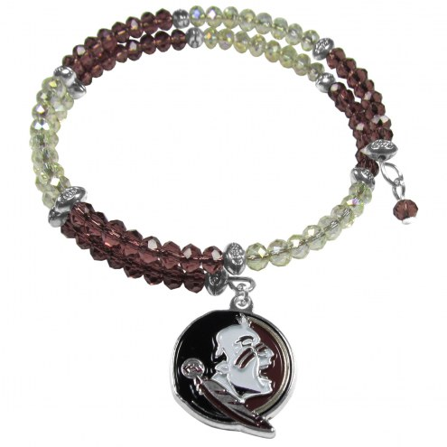 Florida State Seminoles Crystal Memory Wire Bracelet