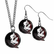 Florida State Seminoles Dangle Earrings & Chain Necklace Set