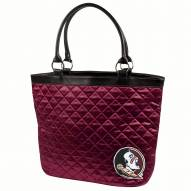 Florida State Seminoles Dark Red NCAA Quilted Tote Bag