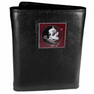 Florida State Seminoles Deluxe Leather Tri-fold Wallet in Gift Box