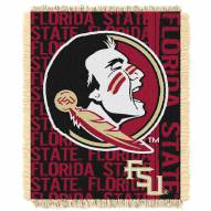 Florida State Seminoles Double Play Woven Throw Blanket